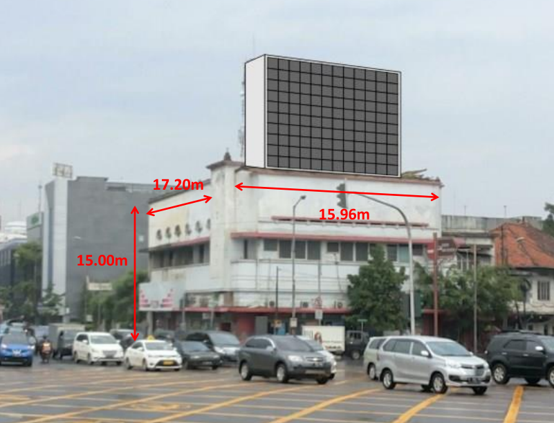 P10 Outdoor LED Screen Wall in Indonesia Jakarta