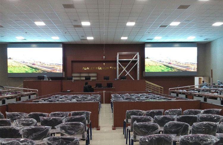 P5 indoor led screen for Turkey Sincan Court House