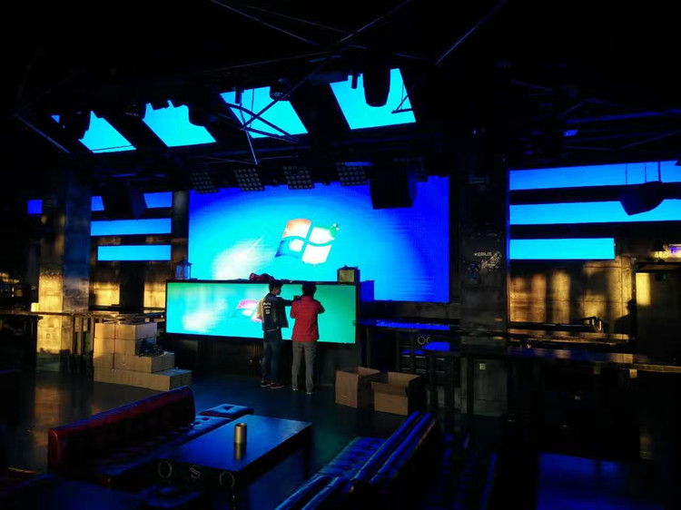 P3 indoor fixed led display screen in Futian club