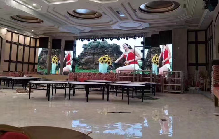 P5 indoor fixed led Display video wall For Yanchan Hotel