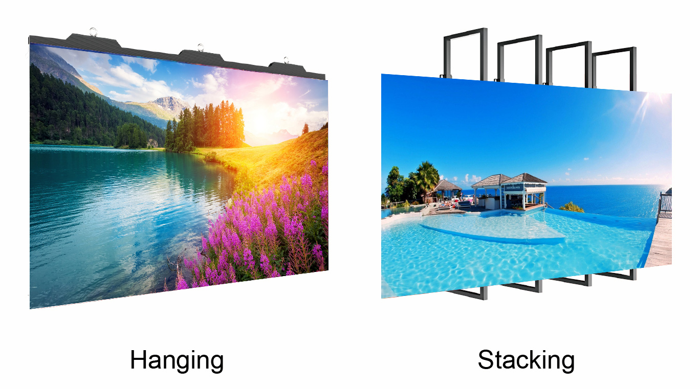 outdoor P4.81 Display Panel For Church 4.8Mm P4.8 Rental Wedding Stage Backdrop